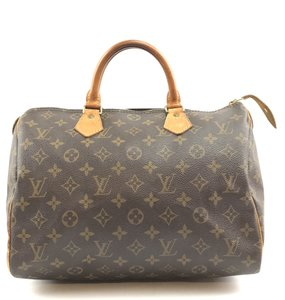 Louis Vuitton Lv Monogram Canvas Speedy 30 Satchel in Brown
