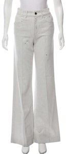 Prada Distressed Flare Tags Trouser/Wide Leg Jeans-Distressed