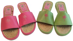 Lilly Pulitzer New Summer Pink or green Sandals