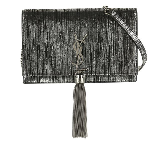 Item - Monogram Kate Shoulder Monogramme Small Metallic Suede Silver Lambskin Leather Cross Body Bag