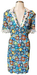 Emilio Pucci short dress Multi Floral Lace Italian on Tradesy