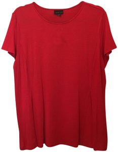 J. Jill Swing Sleeve Rayon Blend Size Lp Petite Large New With Tags T Shirt Red