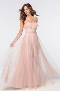 Watters & Watters Bridal Blush Tulle 2304 Angelie Retro Bridesmaid/Mob Dress Size 12 (L)