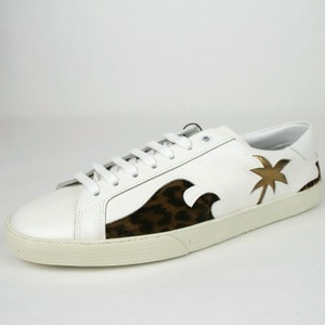 Saint Laurent Off White Leather Classic Palm Tree Sneaker 43/Us 10 441952 9053 Shoes