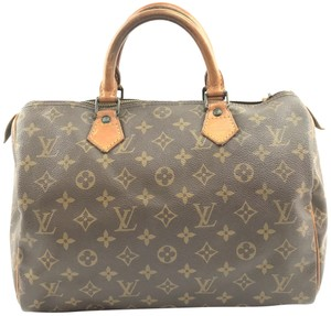 Louis Vuitton Lv Canvas Speedy 30 Satchel in Monogram