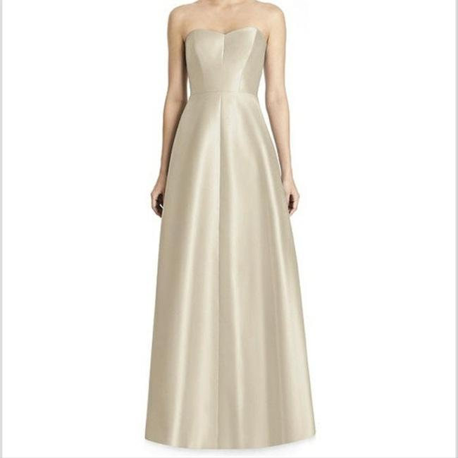 Item - Palomino Sateen Twill D749 Formal Bridesmaid/Mob Dress Size 12 (L)