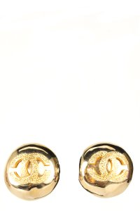 Chanel CHANEL Gold Vintage CC Earrings