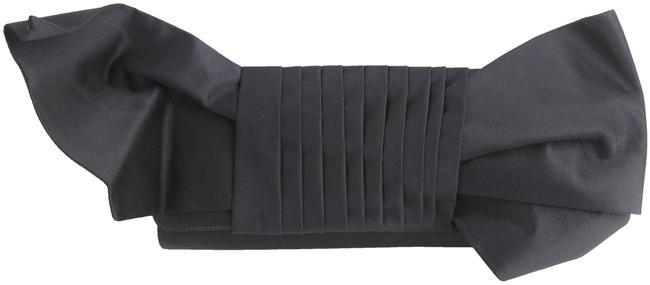 Item - Bow Black Satin Clutch