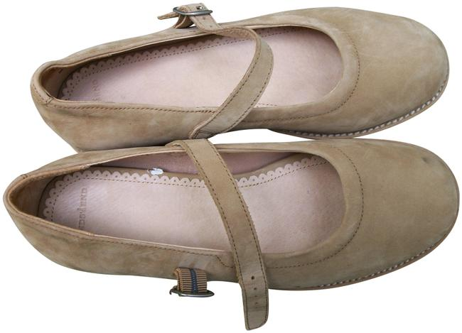 Item - Tan Vintage Suede Mary Flats Size US 8 Regular (M, B)
