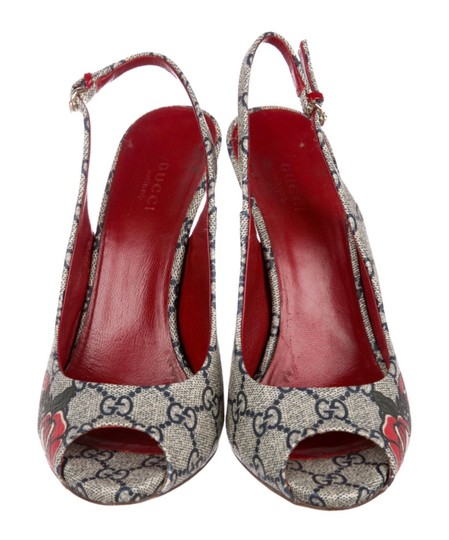Gucci Navy/Red Pumps Image 2