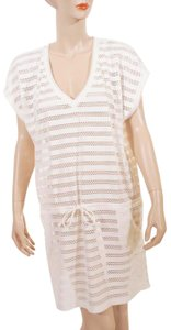 Melissa Odabash Melissa Odabash White Cap Sleeve Drawstring Beach Jorie Cover Up L