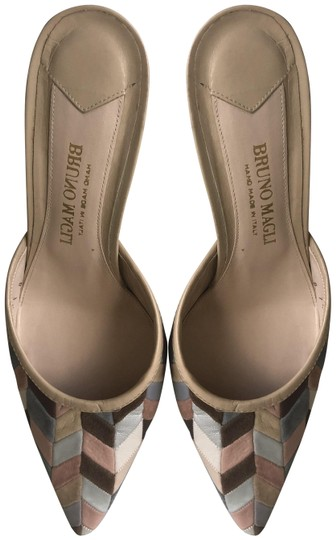 Preload https://img-static.tradesy.com/item/25411756/bruno-magli-peach-grey-silver-pink-suede-and-leather-patchwork-kitten-heeled-mulesslides-size-us-75-0-3-540-540.jpg