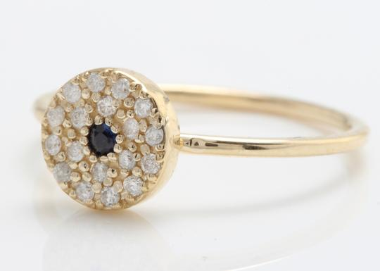 Other .25CTW Natural Blue Sapphire and DIAMOND in 14K Gold Ring Image 2
