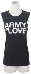 SoulCycle SoulCycle Graphic Print Crew Neck Muscle Black Army of Love Tank Top S