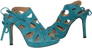 Un Deux Trois Made In Italy Teal Summer blue Sandals