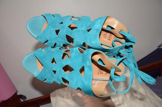Un Deux Trois Made In Italy Teal Summer blue Sandals Image 7