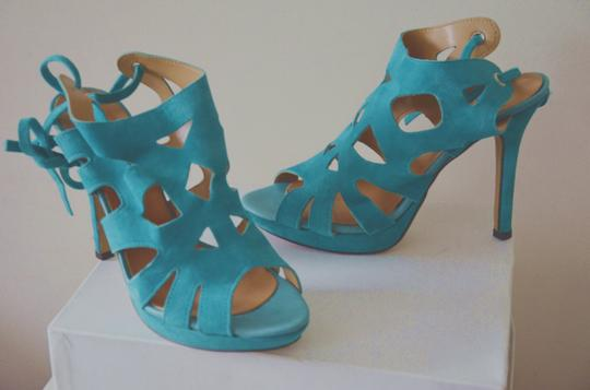 Un Deux Trois Made In Italy Teal Summer blue Sandals Image 8