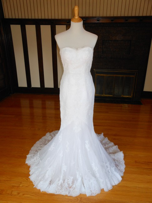 Pronovias White Jackie Destination Wedding Dress Size 4 (S) Pronovias White Jackie Destination Wedding Dress Size 4 (S) Image 1