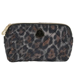Moncler Women's Nylon Quilted Make-up Travel Pouch Bag