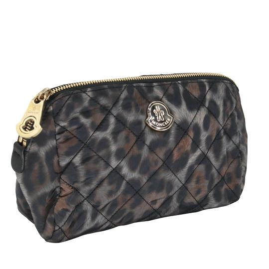 Moncler Women's Nylon Quilted Make-up Travel Pouch Bag Image 1