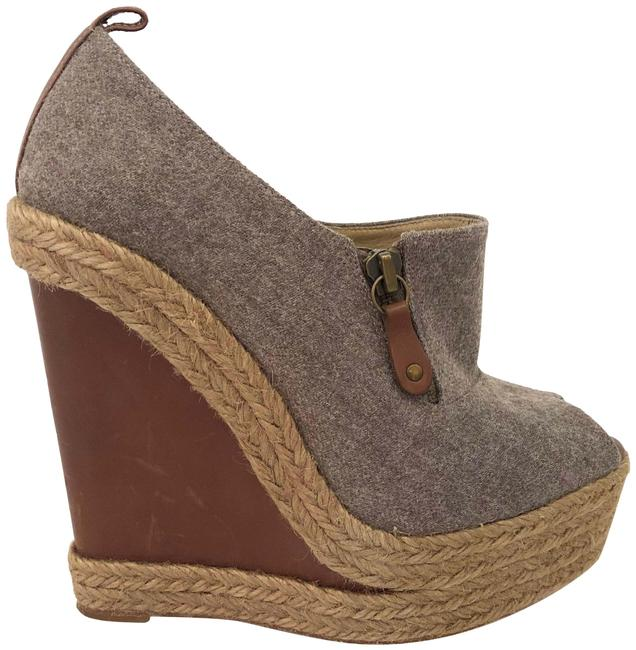 Christian Louboutin Gray Brown Deroba Espadrille Wedges Size EU 37 (Approx. US 7) Regular (M, B) Christian Louboutin Gray Brown Deroba Espadrille Wedges Size EU 37 (Approx. US 7) Regular (M, B) Image 1