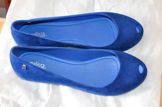 Melissa Plastic Open Toe Casual Royal Blue Flats Image 1