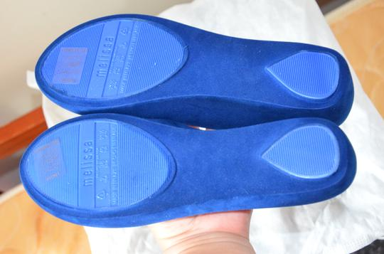 Melissa Plastic Open Toe Casual Royal Blue Flats Image 4
