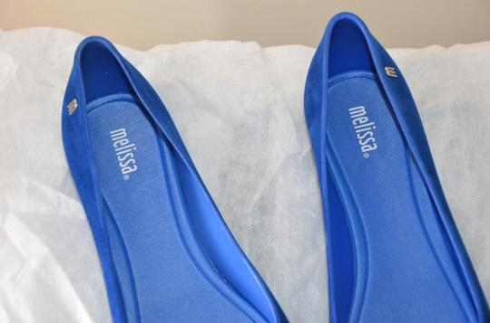 Melissa Plastic Open Toe Casual Royal Blue Flats Image 5