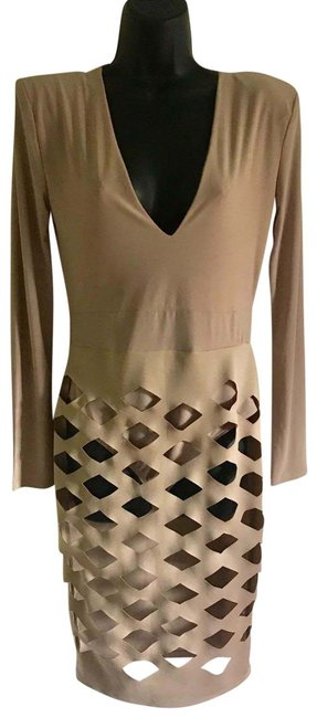 Preload https://img-static.tradesy.com/item/25411993/auditions-tan-mid-length-night-out-dress-size-12-l-0-1-650-650.jpg