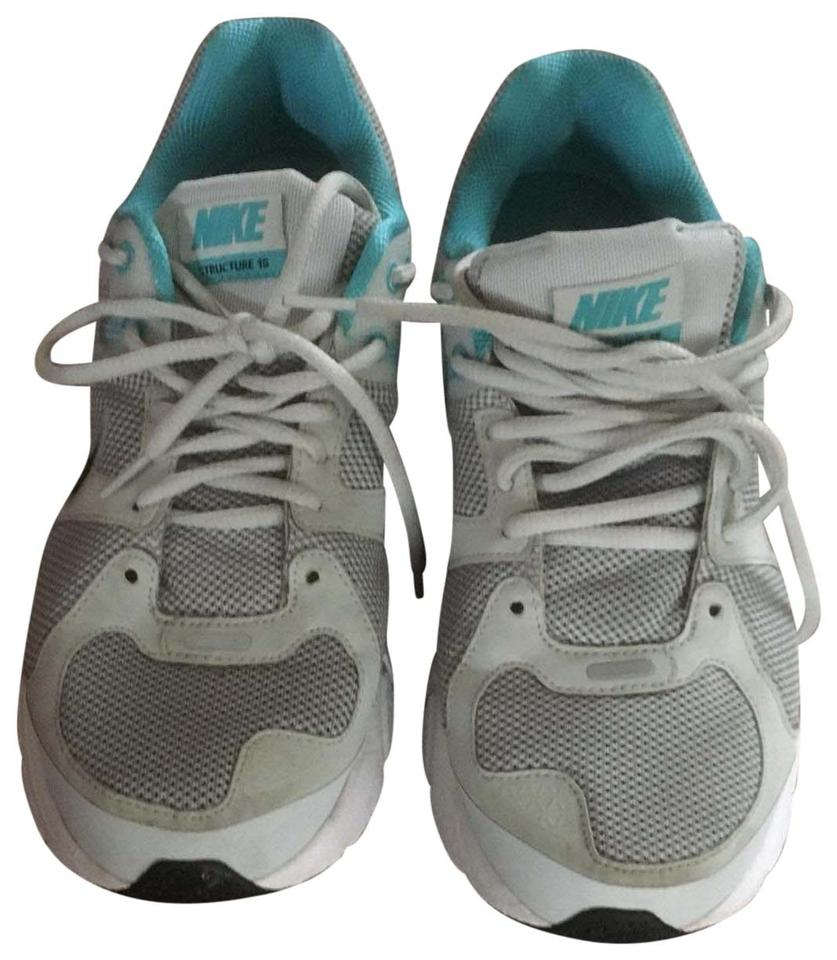 the best attitude c1f54 c6bc2 Nike White Gray Teal Silver Zoom Structure 15 Sneakers Size US 11 Regular  (M, B) 57% off retail