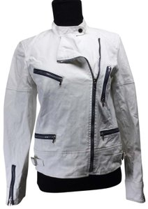 7 For All Mankind Cotton Canvas Moto Motorcycle Jacket