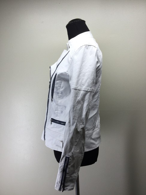 7 For All Mankind Cotton Canvas Moto Motorcycle Jacket Image 2
