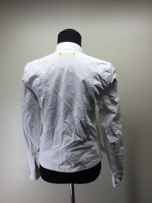 7 For All Mankind Cotton Canvas Moto Motorcycle Jacket Image 3