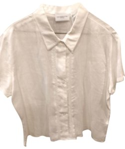 Liz Sport Button Down Shirt white