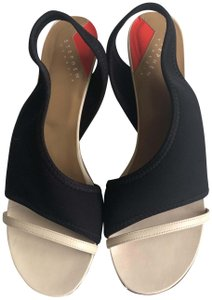 Stephen Venezia Black/beige Sandals