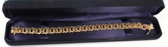 Tiffany & Co. Vintage 14K Yellow Gold Charm Link Bracelet Image 5