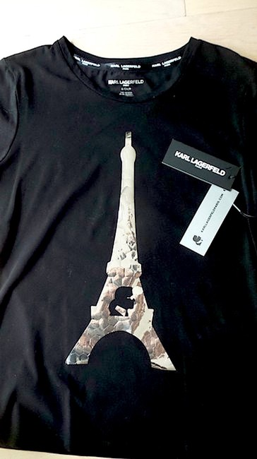 Karl Lagerfeld T Shirt black/silver with tag Image 3