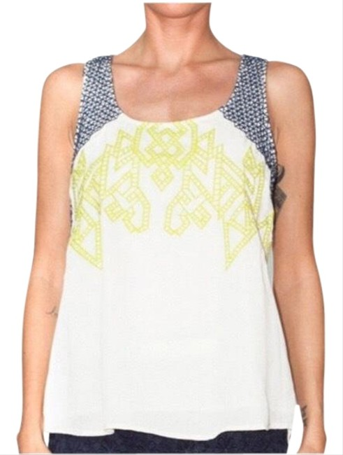 Preload https://img-static.tradesy.com/item/25412135/skies-are-blue-white-yellow-navy-stitchfix-embroidered-tank-topcami-size-26-plus-3x-0-1-650-650.jpg