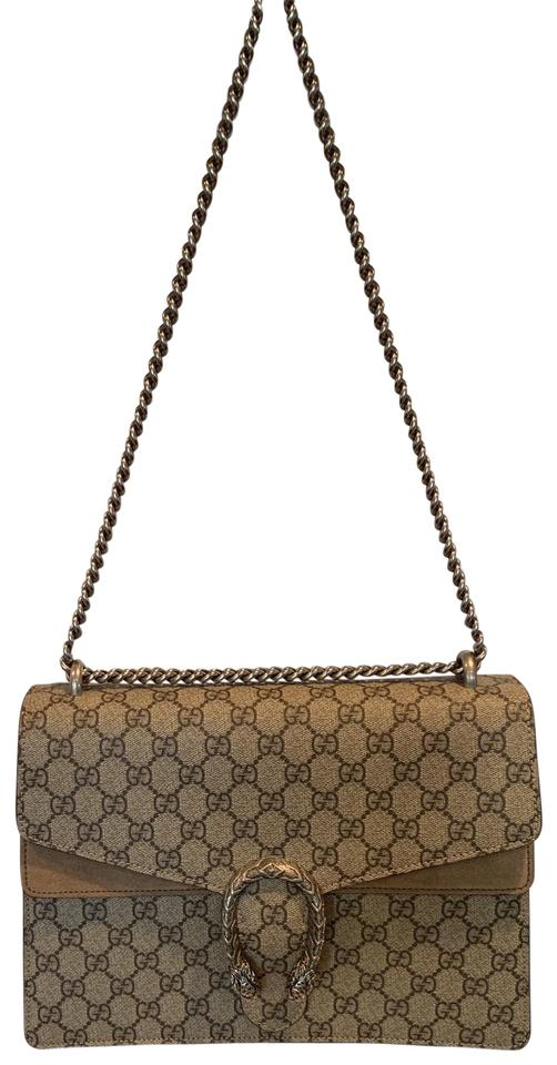Gucci Dionysus Medium Gg Beige Tan Suede Shoulder Bag 9% off retail