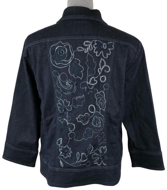 Preload https://img-static.tradesy.com/item/25412165/chico-s-blue-embroidered-jacket-size-12-l-0-1-650-650.jpg