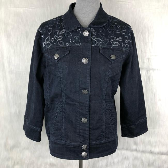 Chico's Womens Jean Jacket Image 2