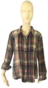 Rails Button Down Shirt Pink and green