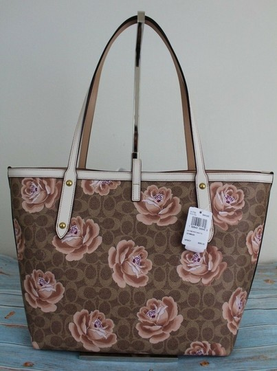 Coach Tote in Tan Chalk/Gold Image 7