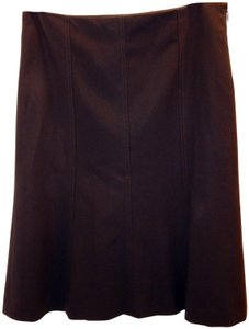 Theory Flared Skirt Brown