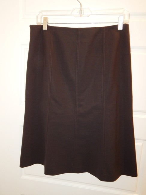 Theory Flared Skirt Brown Image 10