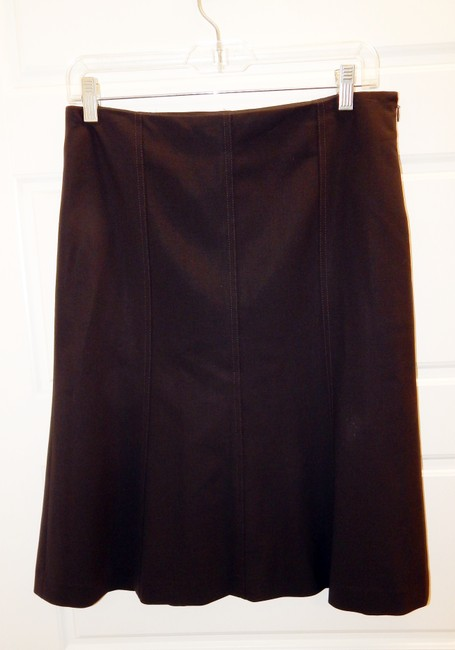 Theory Flared Skirt Brown Image 4