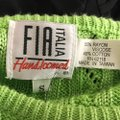 Fia Italia Cable Knit Vintage Italy Hand Made Sweater Image 2