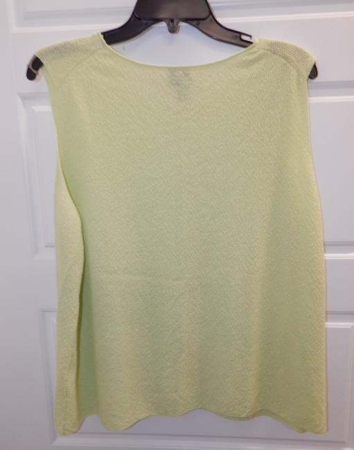 Eileen Fisher Shell Lime Top Green Image 2