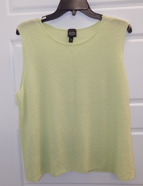 Eileen Fisher Shell Lime Top Green Image 7