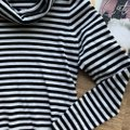 Calvin Klein Cowl Neck Cowl Striped Horizontal Top Black Image 5